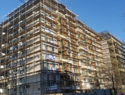 Scaffoldings - residential complex near Maleeva Tennis Club